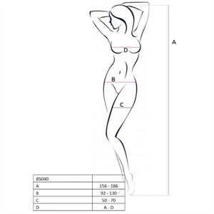 Passion Woman Bs040 Bodystocking Blanco Talla Unica