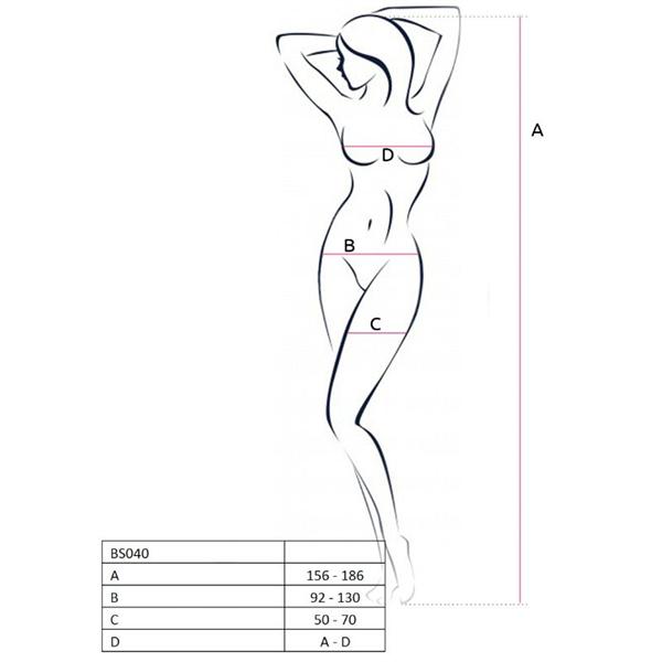 Passion Woman - Passion Woman Bs040 Bodystocking Rojo Talla Unica