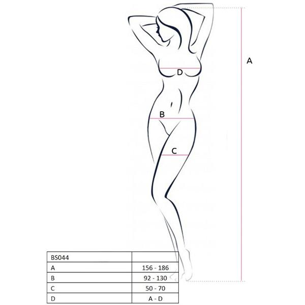 Passion Woman - Passion Woman Bs044 Bodystocking Blanco Talla Unica