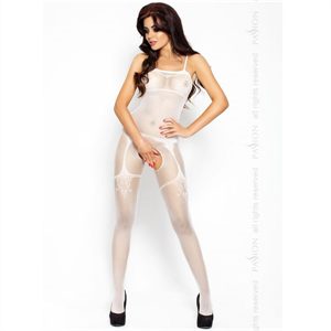 Passion Woman Passion Eroticline Catsuit Blanco Bs006