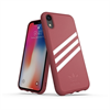 Adidas carcasa Apple iPhone 9 Moulded Suede rosa malva/blanco