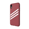 Adidas - Adidas carcasa Apple iPhone 9 Moulded Suede rosa malva/blanco