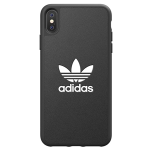 Adidas - Adidas carcasa Apple iPhone X Plus Moulded logo negro/blanco