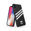 Adidas carcasa Apple iPhone X Plus Moulded rayas negro/blanco