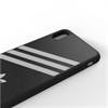 Adidas - Adidas carcasa Apple iPhone X Plus Moulded rayas negro/blanco