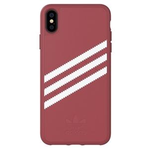 Adidas - Adidas carcasa Apple iPhone X Plus Moulded Suede rosa malva/blanco