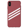 Adidas carcasa Apple iPhone X Plus Moulded Suede rosa malva/blanco