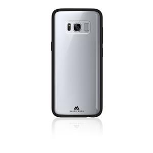 Black Rock - Carcasa transparente Manos Libres con nano-ventosas y marco negro para Samsung Galaxy S8 Black Rock