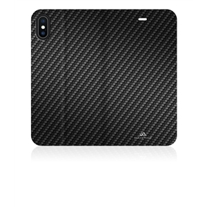 Black Rock - Black Rock funda Apple iPhone X Plus Flex Carbon Booklet negra
