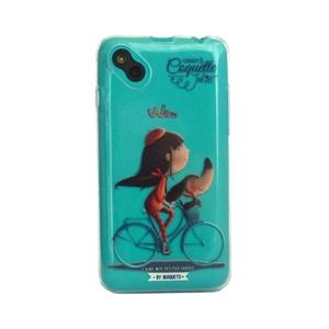 bfa56c3cd1d Funda TPU Transparente Bicicleta Wiko Sunny Coquette - Fundas.es