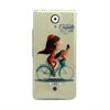 Funda TPU Transparente Bicicleta Wiko U Feel Lite Coquette