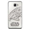 Disney Funda TPU Halcón + Marco Galvanizado Plata para Samsung Galaxy A3 2017 Star Wars