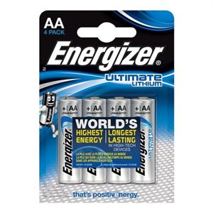 Energizer Ultimate Lithium Pila Litio Aa L91 Lr6 1,5v Blister*4