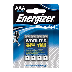 Energizer Ultimate Lithium Pila Litio Aaa L92 Lr03 1,5v Blister*4