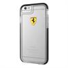 Ferrari Funda TPU Shockproof Transparente Negra Apple iPhone 6/6S F errari