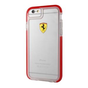 Ferrari - Funda TPU Shockproof Transparente Roja Apple iPhone 6/6S F  errari