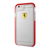 Ferrari Funda TPU Shockproof Transparente Roja Apple iPhone 6/6S F  errari