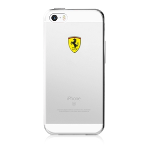 Ferrari - Funda TPU Transparente Racing Apple iPhone 5/5S/SE Ferrari