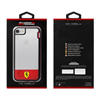 Ferrari - Carcasa Shockproof Transparente Racing Roja Apple iPhone 7 Ferrari