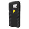 Carcasa Daytona Negra Fibra de Carbono Samsung Galaxy S7 Ferrari