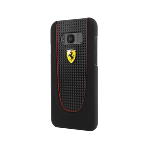 Ferrari - Carcasa Fibra Carbono Negra Samsung Galaxy S8 Plus Ferrari