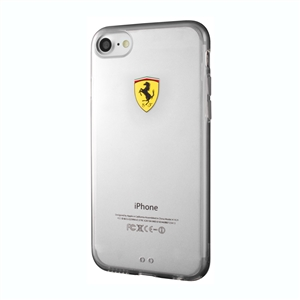 Ferrari - Funda TPU Transparente Racing Apple iPhone 7 Ferrari