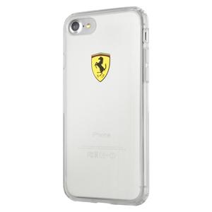 Ferrari - Funda TPU Transparente Racing Apple iPhone 7 Plus Ferrari