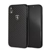 Ferrari carcasa Apple iPhone XR fibra carbono negra