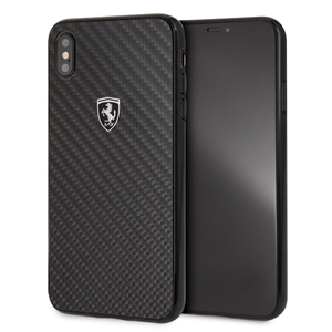 Ferrari - Ferrari carcasa Apple iPhone XS Max fibra carbono negra