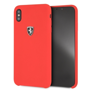 Ferrari - Ferrari funda Apple iPhone XS Max silicona roja