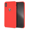 Ferrari funda Apple iPhone XS Max silicona roja