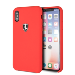Ferrari - Ferrari funda Apple iPhone XS/X silicona roja