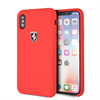 Ferrari funda Apple iPhone XS/X silicona roja