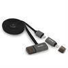 Cable USB Carga y Sincronización Negro Micro USB-Lightning + Puerto USB Fujipower