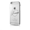 Funda TPU Transparente Heart Negra Apple iPhone 6/6S Guess