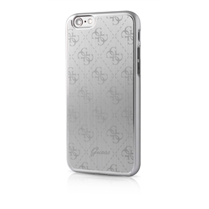 Guess - Carcasa 4G Metálica Plata Apple iPhone 6/6S Guess