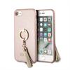 Carcasa rígida Saffiano con anillo soporte rosa para Apple iPhone 8/7 Guess
