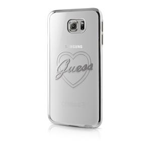 Guess - Funda TPU Signature Transparente Plata Samsung Galaxy S7 Guess