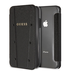 Guess - Guess funda Kaia Apple iPhone XR transparente y negra