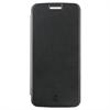 Made For Motorola - Funda Folio Negra parte Trasera Transparente Motorola Moto G6 Made for Moto