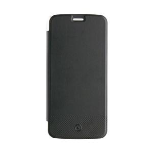 Made For Motorola - Funda Folio Negra parte Trasera Transparente Motorola Moto G6 Play Made for Moto