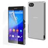 Made For Xperia Carcasa Transparente + Protector de Pantalla Tempered Glass Sony Xperia Z5 Compact Made for Xperia