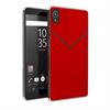 Made For Xperia Carcasa Roja con ranura para tarjeta y tacto piel Sony Xperia XA