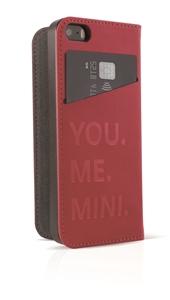 Mini - Funda Folio Roja Logo metal A pple iPhone 6 5.5&quote; Mini