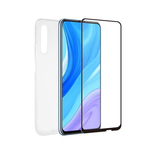 Muvit For Change - muvit for change pack Huawei P Smart Pro funda Cristal Soft + protector de pantalla vidrio templado