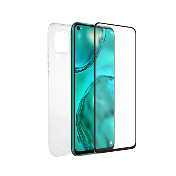 Muvit For Change - muvit for change pack Huawei P40 Lite funda Cristal Soft + protector de pantalla vidrio templado pla