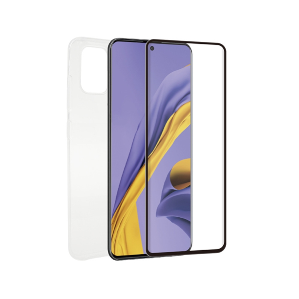 Muvit For Change - muvit for change pack Samsung Galaxy A51 funda transp.+prot.de pantal. vidrio templado plano marco n