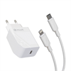 Muvit For Change muvit for change pack transformador Tipo C PD 20W + cable tipo C a lightning 2.4A 1m blanco