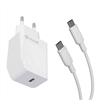 Muvit For Change muvit for change pack transformador Tipo C PD 20W + cable tipo C a tipo C 3A 1m blanco