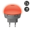 Muvit Life Transformador USB Dual LED Rojo 2.1A muvit Life